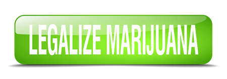 legalize: legalize marijuana green square 3d realistic isolated web button Illustration