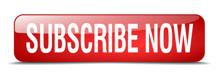 subscribe now red square 3d realistic isolated web button 일러스트