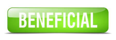 beneficial: beneficial green square 3d realistic isolated web button