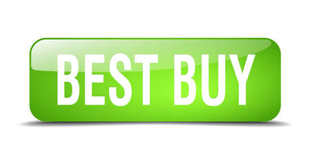 best buy: best buy green square 3d realistic isolated web button