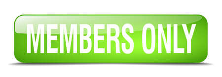 only members: members only green square 3d realistic isolated web button Illustration