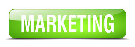 web marketing: marketing green square 3d realistic isolated web button