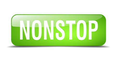 nonstop: nonstop green square 3d realistic isolated web button