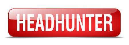 headhunter: headhunter red square 3d realistic isolated web button