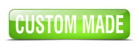 custom made: custom made green square 3d realistic isolated web button