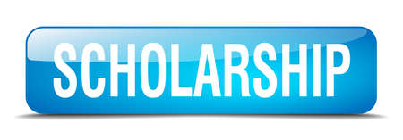 scholarship: scholarship blue square 3d realistic isolated web button Illustration