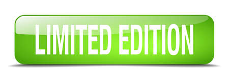 limited edition: limited edition green square 3d realistic isolated web button Illustration