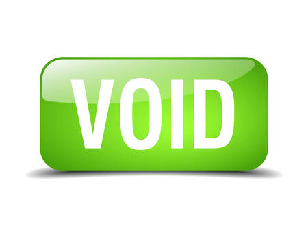 void: void green square 3d realistic isolated web button