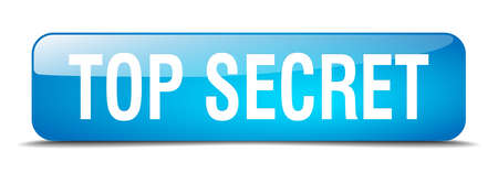 top secret: top secret blue square 3d realistic isolated web button