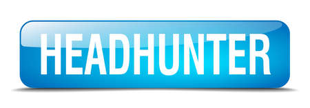 headhunter: headhunter blue square 3d realistic isolated web button