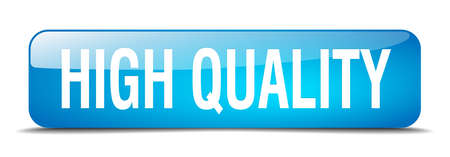 high quality: high quality blue square 3d realistic isolated web button