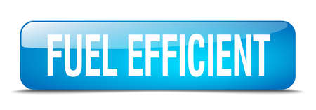 efficient: fuel efficient blue square 3d realistic isolated web button