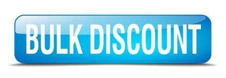 bulk: bulk discount blue square 3d realistic isolated web button