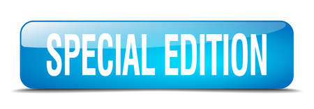 edizione straordinaria: edizione speciale blu 3d pulsante web isolato realistico piazza Vettoriali