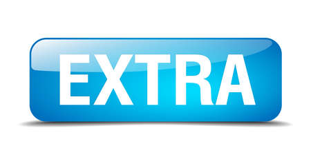 extra: extra blue square 3d realistic isolated web button Illustration