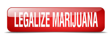 legalize: legalize marijuana red square 3d realistic isolated web button