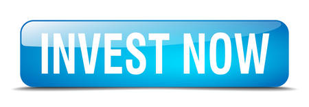 to invest: invest now blue square 3d realistic isolated web button