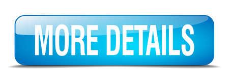 más detalles azul botón de la web cuadrado realista 3d aislado