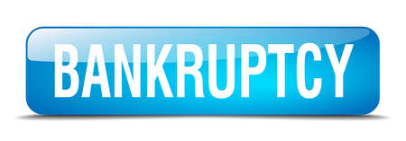 bankruptcy: bankruptcy blue square 3d realistic isolated web button Illustration