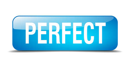 perfect: perfect blue square 3d realistic isolated web button
