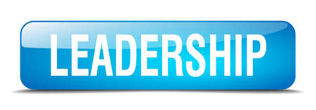 shiny buttons: leadership blue square 3d realistic isolated web button Illustration