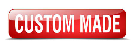 custom made: custom made red square 3d realistic isolated web button