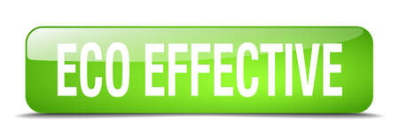 eco notice: eco effective green square 3d realistic isolated web button