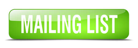 mailing: mailing list green square 3d realistic isolated web button