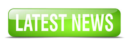 latest: latest news green square 3d realistic isolated web button Illustration