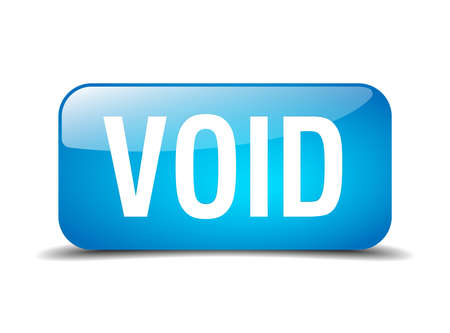 the void: void blue square 3d realistic isolated web button