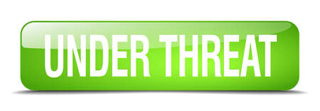 threat: under threat green square 3d realistic isolated web button Illustration