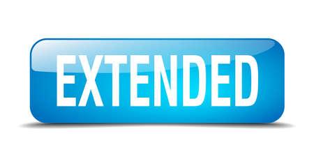 estendido: extended blue square 3d realistic isolated web button Ilustração
