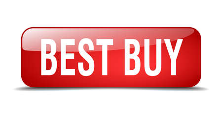 best buy: best buy red square 3d realistic isolated web button