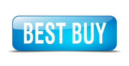 best buy: best buy blue square 3d realistic isolated web button
