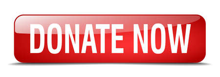 red button: donate now red square 3d realistic isolated web button Illustration