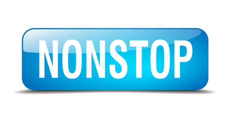 nonstop: nonstop blue square 3d realistic isolated web button