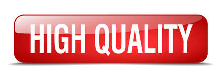 high quality: high quality red square 3d realistic isolated web button