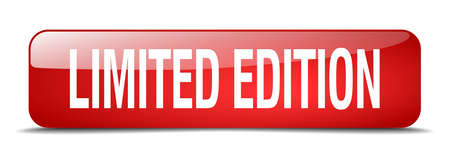 limited edition: limited edition red square 3d realistic isolated web button