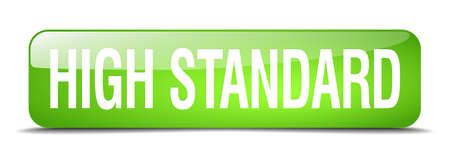 standard: high standard green square 3d realistic isolated web button