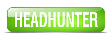 headhunter: headhunter green square 3d realistic isolated web button