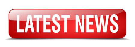 latest news red square 3d realistic isolated web button