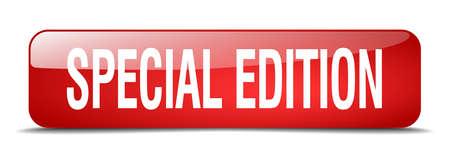 edizione straordinaria: edizione speciale rosso 3d web pulsante isolato realistico piazza Vettoriali