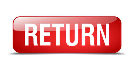 return red square 3d realistic isolated web button
