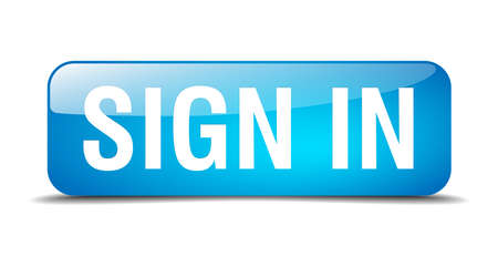 sign in: sign in blue square 3d realistic isolated web button