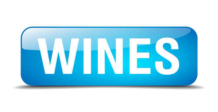 wines: wines blue square 3d realistic isolated web button Illustration