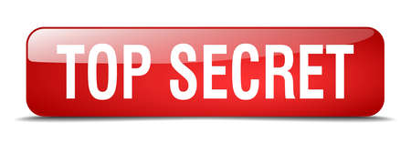 top secret: top secret red square 3d realistic isolated web button Illustration