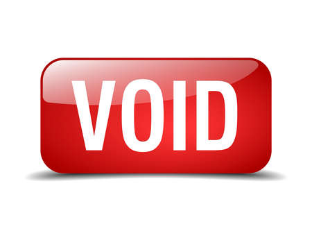 the void: void red square 3d realistic isolated web button Illustration