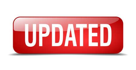 updated: bot�n de actualizaci�n del cuadrado rojo 3d realista aislada web