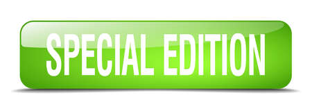 special edition: special edition green square 3d realistic isolated web button