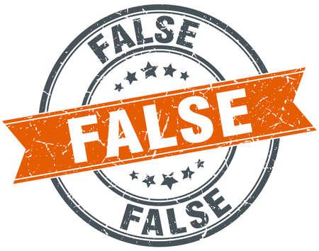 falso: naranja ronda falsa aislados grungy sello de la vendimia Vectores